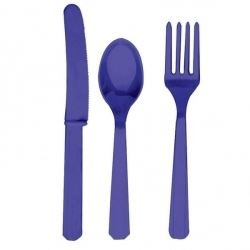 Purple Cutlery Party Set