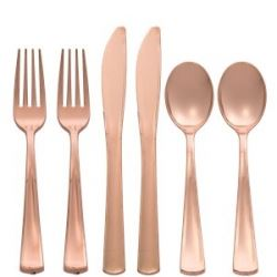 Rose Gold Party Cutlery