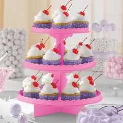 Bright Pink Party Cupcake Stand