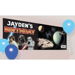 Star Wars Personalised Party Banner