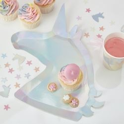 Make A Wish Unicorn Shaped Party Plates