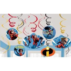 Disney The Incredibles 2 Party Swirls