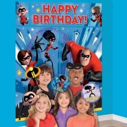 Disney The Incredibles 2 Party Scene Setter And Selfie Prop Kit