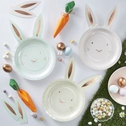 Hoppy Bunny Ear Party Plates
