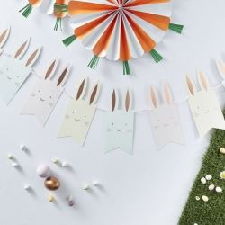 Hoppy Bunny Rosegold Pom Pom Tail Party Bunting