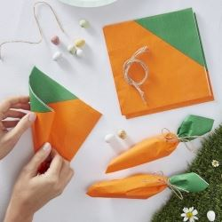 Hoppy Bunny Carrot Napkins