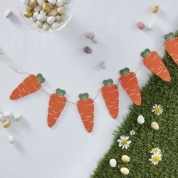 Hoppy Bunny Wooden Carrot Bunting