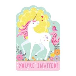 Magical Unicorn Party Invitations