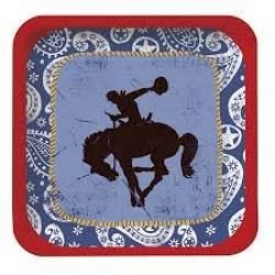 Western Rodeo Cowboy Party Lunch Plates