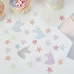 Make A Wish Unicorn Iridescent Party Confetti