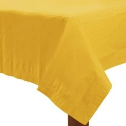 Yellow Party Paper Tablecover