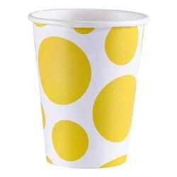 Yellow Dots Party Cups