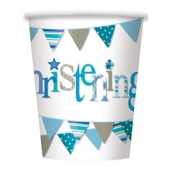 Blue Christening Party Cups