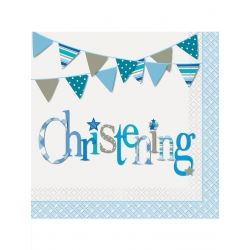 Blue Christening Party Napkins