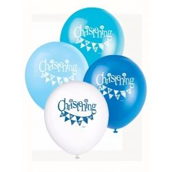 Blue Christening Party Balloons