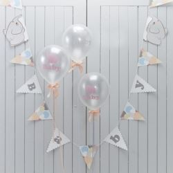 Little One Elephant Party Banners