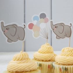 Little One Elephant Party Cupcake Kit