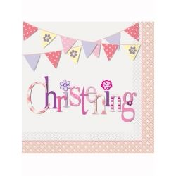 Pink Christening Party Napkins