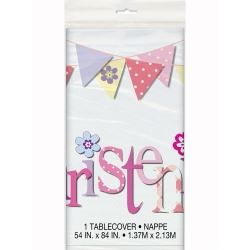 Pink Christening Party Tablecovers