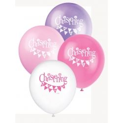 Pink Christening Party Balloons