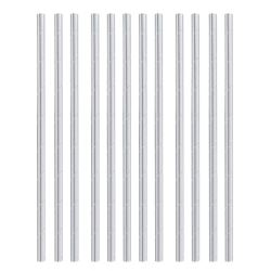 Silver Party Paper Drinking Straws