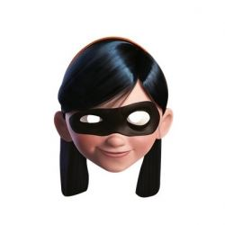 Violet Incredibles Party Masks