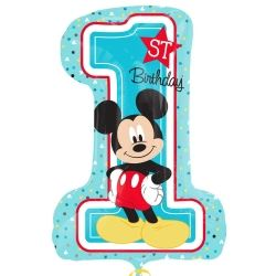 Mickey Mouse 1st Birthday Super Shape Balloons