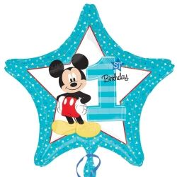 Mickey Mouse Party 1st Birthday Foil Balloons