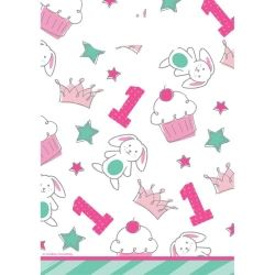 Doodle 1st Birthday Girl Party Bags