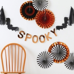 Ginger Ray Halloween Pumpkin Party Spooky Foiled Party Banner