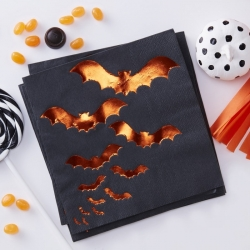 Ginger Ray Pumpkin Party Foiled Bat Napkins