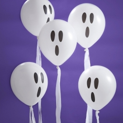 Ginger Ray White Ghost Party Balloons