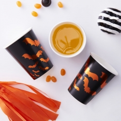 Ginger Ray Pumpkin Bat Foiled Cups