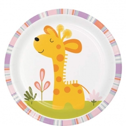 Happi Jungle Safari Party Lunch Plates Giraffe