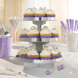 Silver Party Cupcake Stand