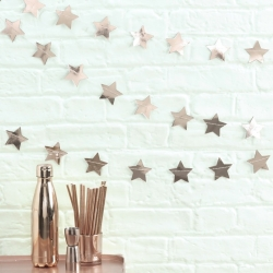 Ginger Ray Rose Gold Metallic Star Garland