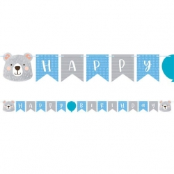 Birthday Bear Party Ribbon Banner