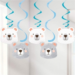Birthday Bear Party Dizzy Dangler Decorations