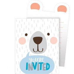 Birthday Bear Party Birthday Pop Up Invitations