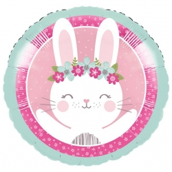 Birthday Bunny Party Foil Balloon