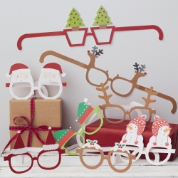 Santa & Friends Chritmas Selfie Photo Fun Glasses
