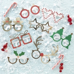 Ginger Ray Christmas Fun Selfie Glasses