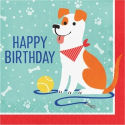 Perfect Paws Dog Puppy Party Happy Birthday Napkins