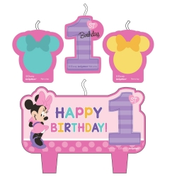Disney Minnie Mouse Fun To Be One Party Candles