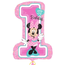 Minnie Mouse 1st Birthday Super Shape Balloons