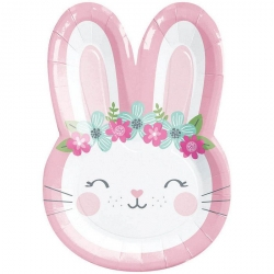 Birthday Bunny Shaped Party Plates
