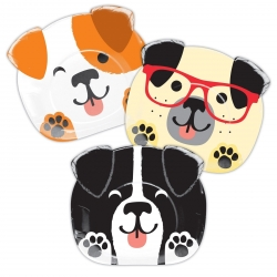Perfect Paws Dog Puppy Party Shaped Party Plates