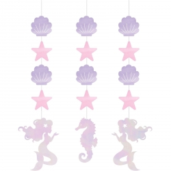 Mermaid Shine Party Hanging Cutouts