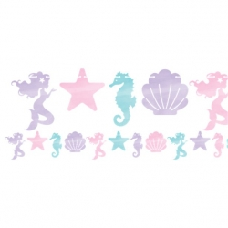 Mermaid Shine Shaped Party Banner