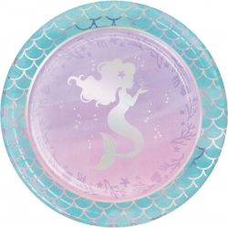 Mermaid Shine Iridescent Party Plates